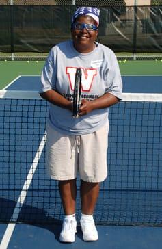 Cindy playing tennis