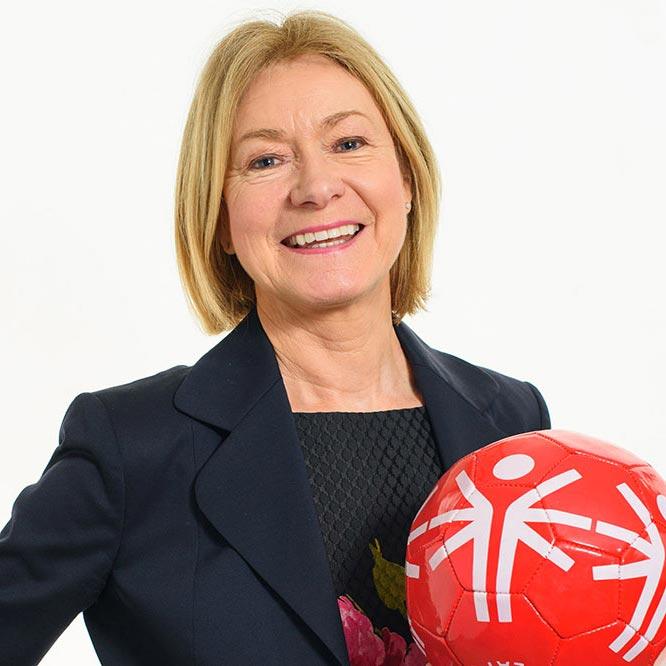 portrait of Mary Davis of Special Olympics